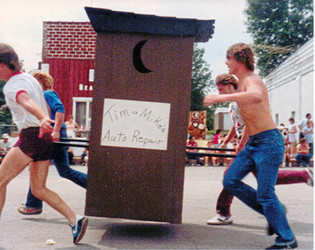 Outhouse Races, Janesville Days, 1984