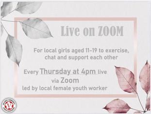 Girls Zoom activities launch