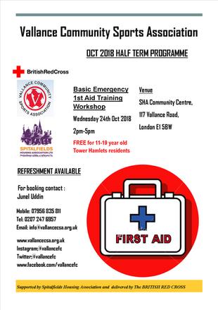 Basic Emergency First Aid training
