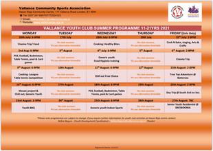 Summer 2021 activities starting