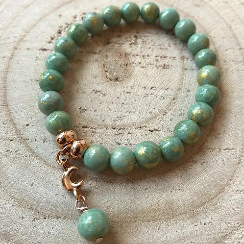 Armband jade groen