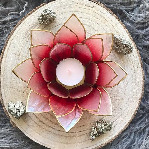 lotus theelicht houder rood