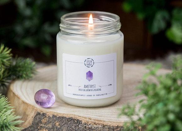 Edelsteen Geurkaars - Amethist - Lavendel