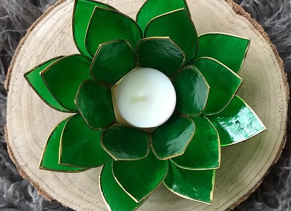 Lotus theelicht houder groen