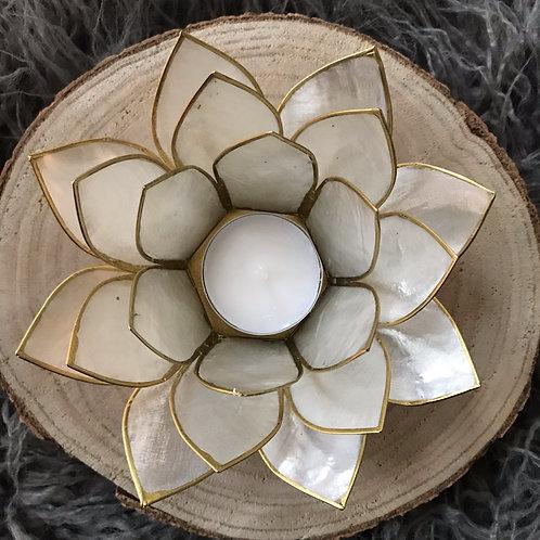 Lotus theelicht houder parel