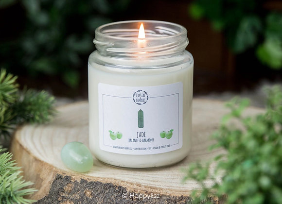 Edelsteen Geurkaars - Jade - appelbloesem
