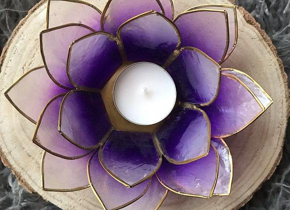 Lotus theelicht houder violet
