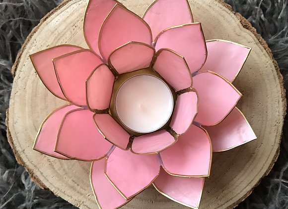 Lotus theelicht houder roze
