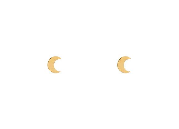 Oorknopjes goudkleurig maan