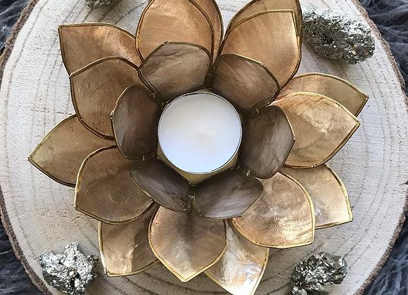 Lotus theelicht houder goud