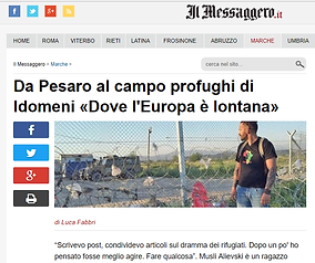 Il Messaggero, Idomeni, Musli Alievski, campo profughi, Pesaro, Stay Human, Onlus