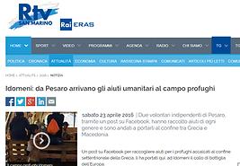 Rtv San Marino, volontari, aiuti umanitari, campo profughi