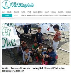 Bambini profughi Idomeni, pizzeria Nansen