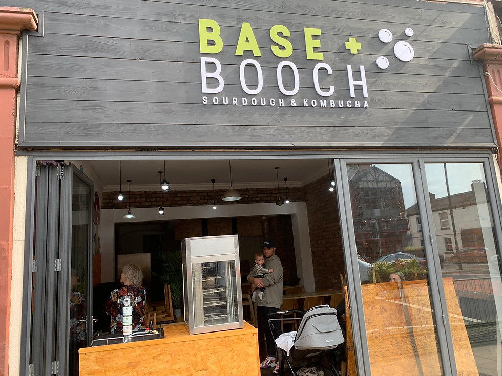 Base and Booch Sign