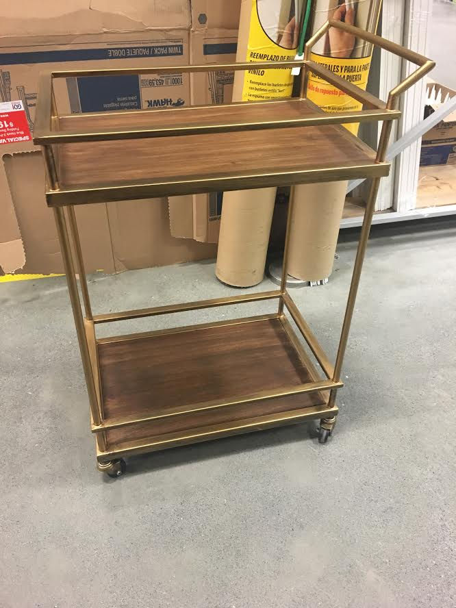 this is my bar cart that i found on offer up - Rose Gold Bar Cart