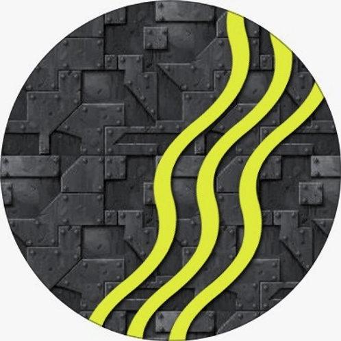 Illustratie grijs-geel