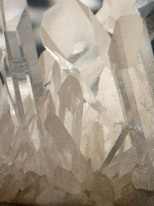 Clear Arkansas Quartz Crystal Cluster