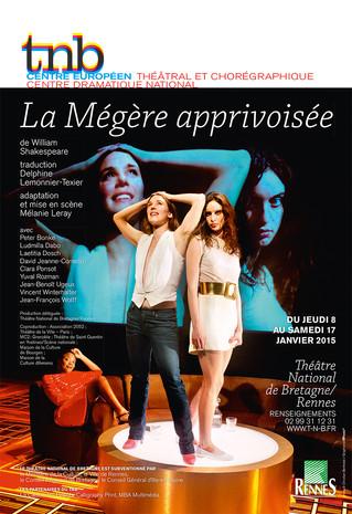 Affiche pour le spectacle La Mégère apprivoisée au TNB-Rennes