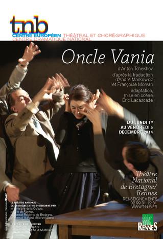 Affiche pour le spectacle Oncle Vania au TNB-Rennes