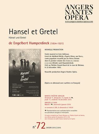 Programme de salle de Hansel et Gretel pour Angers Nantes Opéra