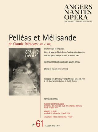 Programme de salle de Pelléas et Mélisande pour Angers Nantes Opéra