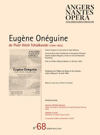 Programme de salle de Eugène Onéguine pour Angers Nantes Opéra