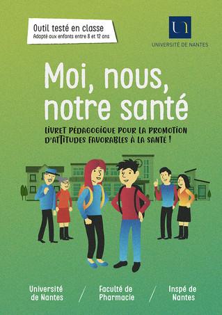 Illustration et maquette d'un livret pédagogique pour la Faculté de Pharmacie de Nantes
