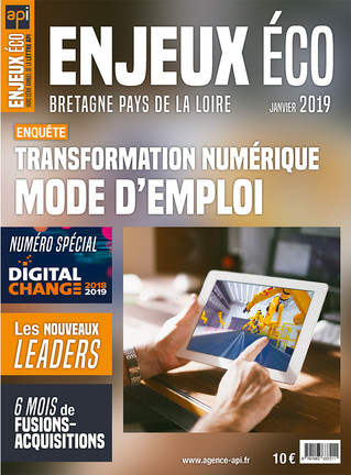 Maquette et mise en page du magazine Enjeux Éco -  Janvier 2019