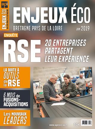 Maquette et mise en page du magazine Enjeux Éco -  Juin 2019