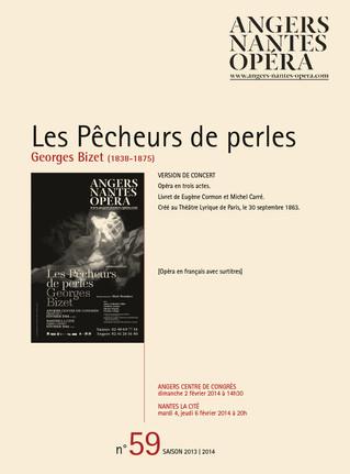 Programme de salle de Les Pêcheurs de perles pour Angers Nantes Opéra