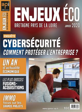 Maquette et mise en page du magazine Enjeux Éco -  Janvier 2020