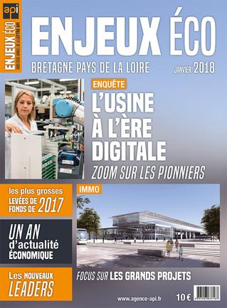 Maquette et mise en page du magazine Enjeux Éco - janvier 2018
