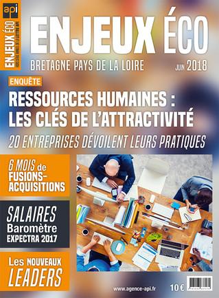 Maquette et mise en page du magazine Enjeux Éco -  Juin 2018