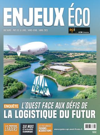 Maquette et mise en page du magazine Enjeux Éco -  avril 2021