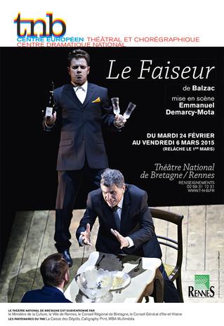 Affiche pour le spectacle Le Faiseur au TNB-Rennes