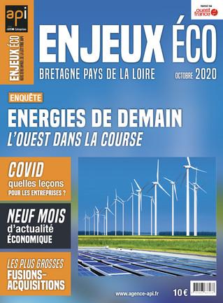 Maquette et mise en page du magazine Enjeux Éco -  octobre 2020