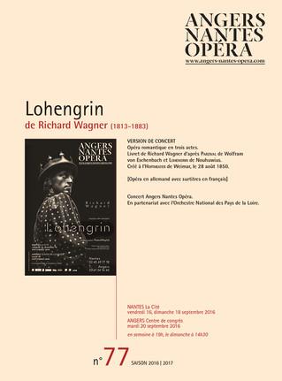 Programme de salle de Lohengrin pour Angers Nantes Opéra