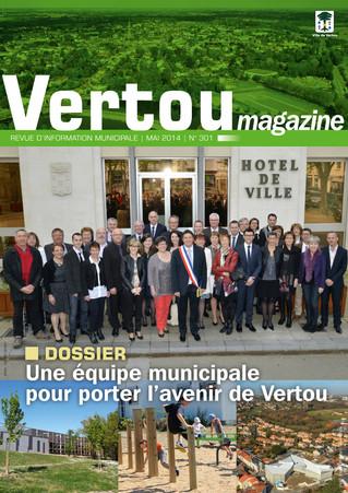 Vertou magazine n° 301 présente la nouvelle équipe municipale