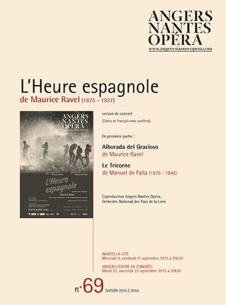 Programme de salle de L'Heure espagnole pour Angers Nantes Opéra