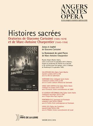 Programme de salle de Histoires sacrées pour Angers Nantes Opéra