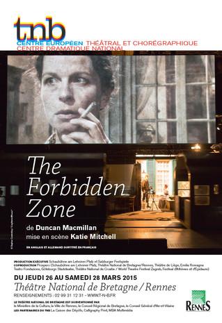 Affiche pour le spectacle The Forbidden Zone au TNB-Rennes