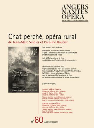 Programme de salle de Chat Perché pour Angers Nantes Opéra