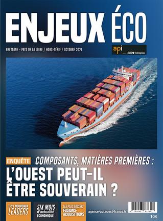 Maquette et mise en page du magazine Enjeux Éco - octobre 2021