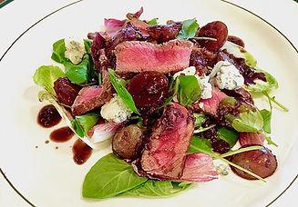 MJ Strip steak Gorgonzola salad roastd g