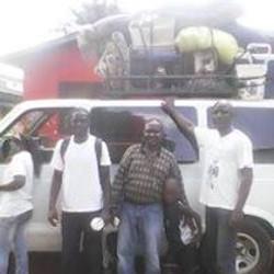 men in Haiti