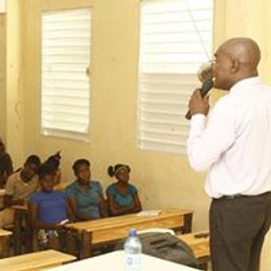Man giving lecture