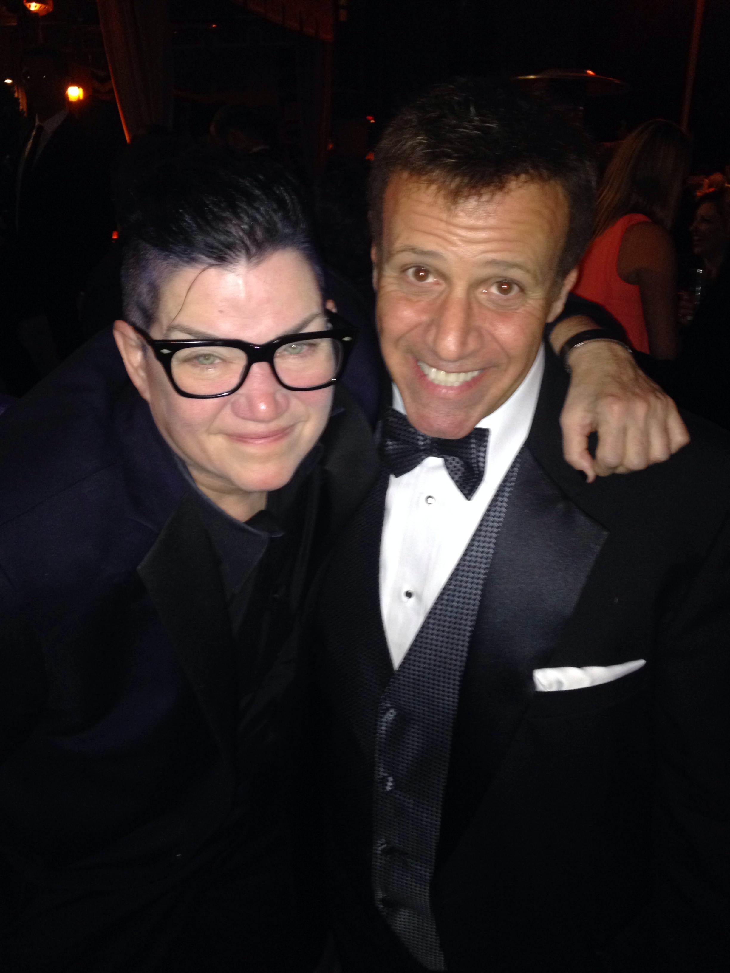 With Old Cast Mate Lea Delaria