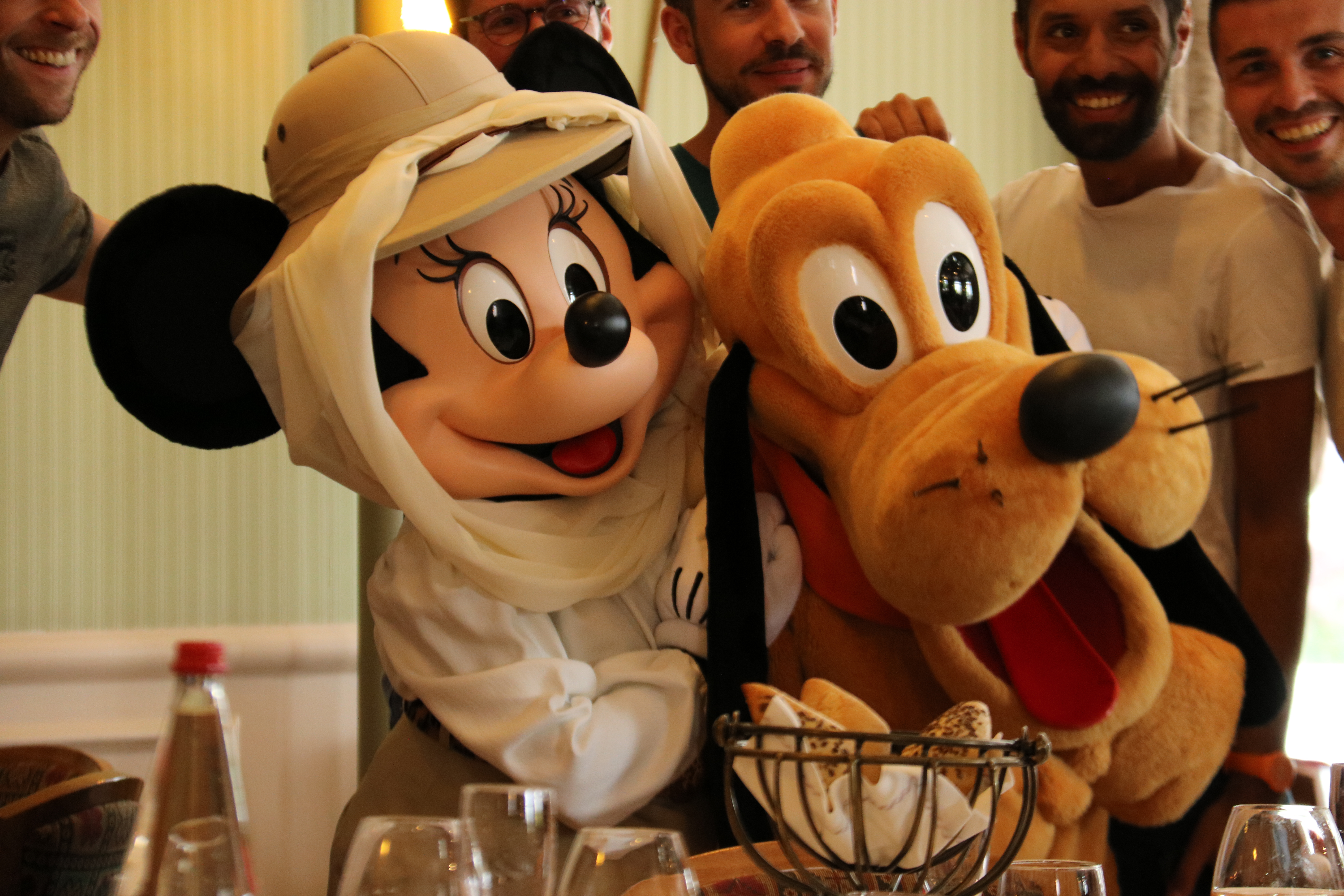 Minnie and Pluto