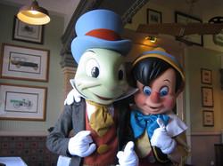 Jiminy Cricket and Pinocchio