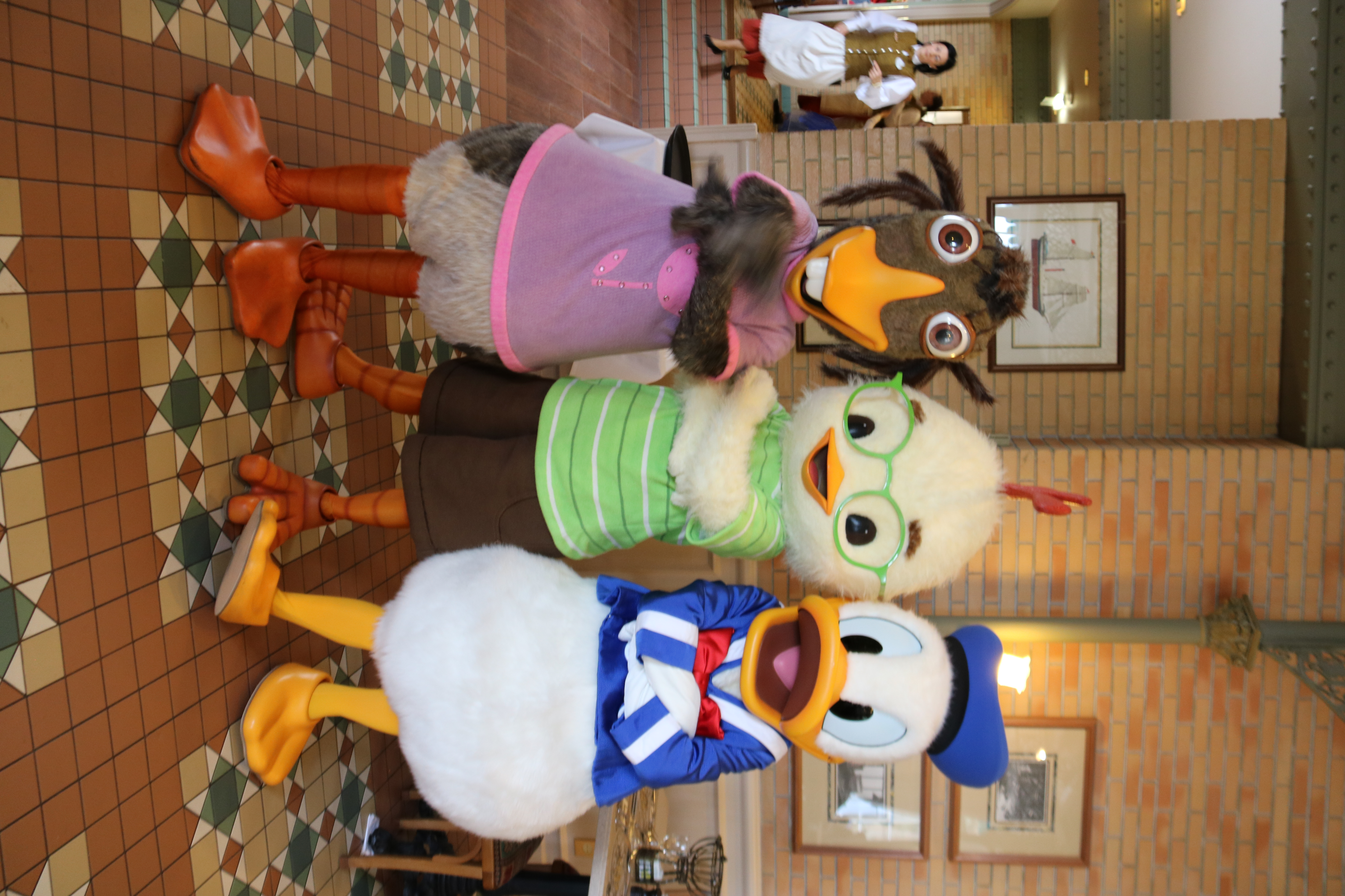 Abby, Chicken Little, and Donald